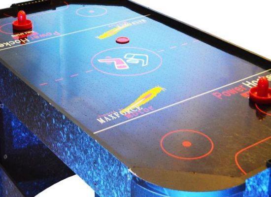Close Up Of Air Hockey Arcade Pub Game