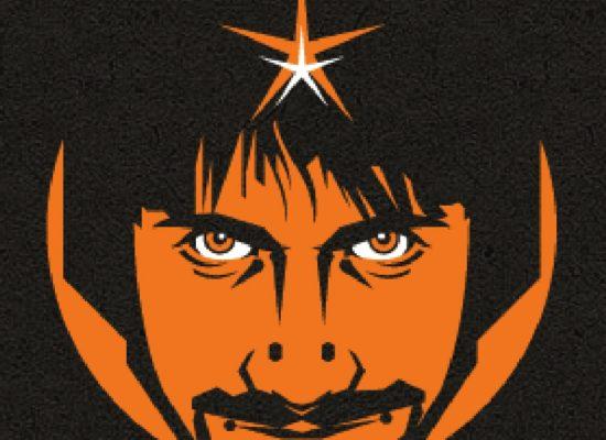 Peter Antoniou Psychic Comedian Dark Orange Logo Showing Artwork In The Form Of Peter Antoniou's Head