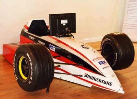 Formula 1 Simulator For Hire Angled View