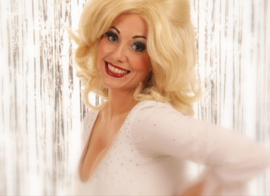 Dolly Parton Tribute Act Publicity Photograph Smiling Directly At Camera With Radiant Smile