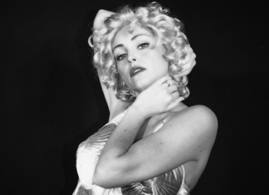 Madonna Tribute Black & White Image Against A Black Background First & Foremost Entertainment Ltd