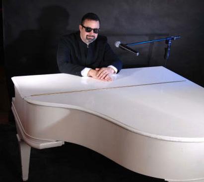 Billy Joel Tribute At White Piano Wearing Sunglasses