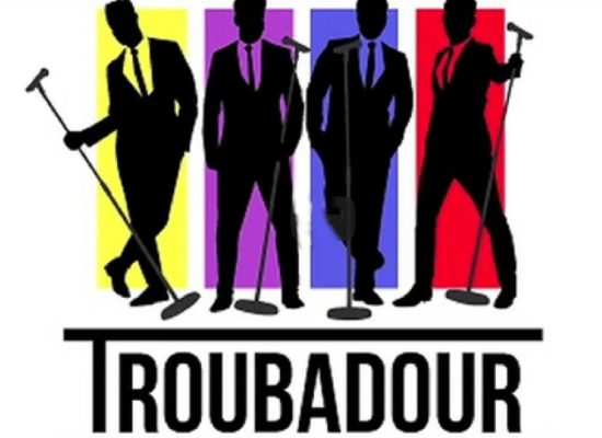 Troubadour Logo Multicoloured With Silhouette Figures First & Foremost Events Ltd