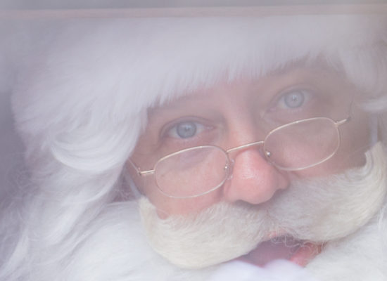 Santa Claus Father Christmas Extreme Close Up On Face Soft Focus