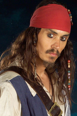 Captain Jack Sparrow Lookalike Johnny Depp Pirates Of The Caribbean