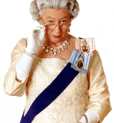 Her Majesty The Queen Lookalike in Full Royal Regalia