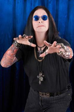 Ozzy Osbourne Lookalike In Ghoulish Pose