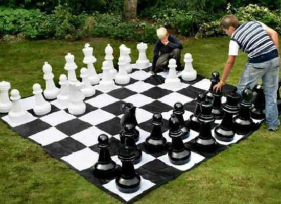 Giant Chess Game Indoor Or Outdoor Fun Entertainment