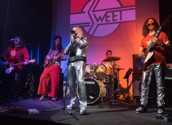 The Sweet Tribute Band Performing Live At A Corporate Event