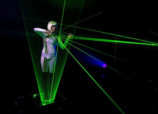 Lumina Laser Violinist Performing Live